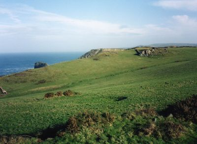 King Arthur's Castle Golf Club, Tintagel, Cornwall. View of the derelict golf course.