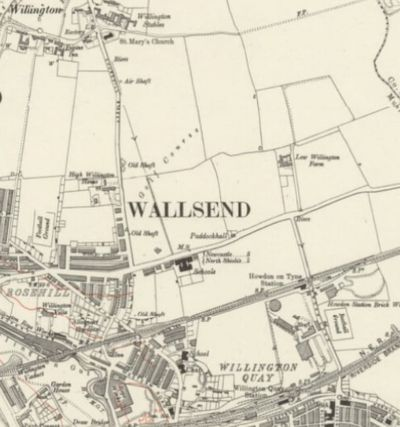 Wallsend Golf Club, Rosehill, Newcastle-on-Tyne. The course is marked on the 1921 Ordnance Survey Map.