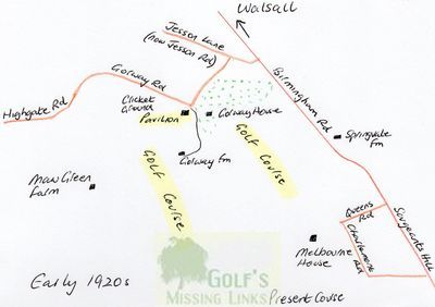 Walsall Golf Club, Gorway. Location of the former Walsall course.