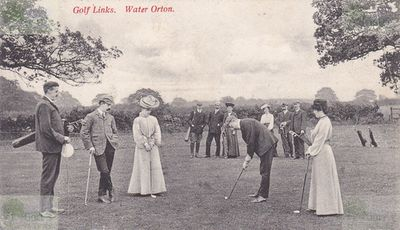 Water Orton Golf Club, Warwickshire. The Golf Links on a Postcard dated 1905.