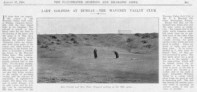 Waveney Valley Golf Club, Suffolk. From The Illustrated Sporting & Dramatic News August 1904.