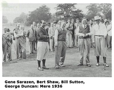 West Cheshire Golf Club. Bill Sutton at Mere Golf Club in 1936.