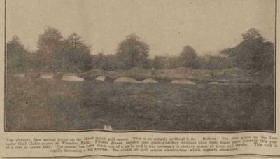 Wheatley Park Golf Club, Doncaster. Image from the Sheffield Daily Telegraph June 1914.