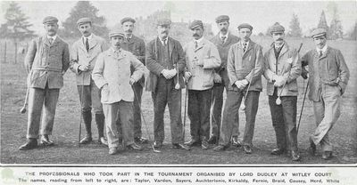 Witley Court Golf Course, Worcestershire. The famous players line up for a photograph.