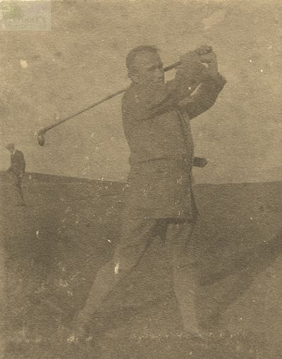 Wooler Golf Club, Northumberland. George Tweddell on the Wooler golf course.