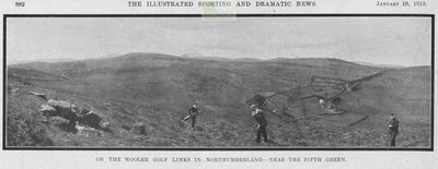 Wooler Golf Club, Northumberland. From the Illustrated Sporting Dramatic News January 1913.