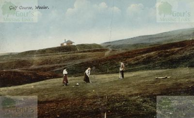 Wooler Golf Club, Northumberland. The course in 1918.