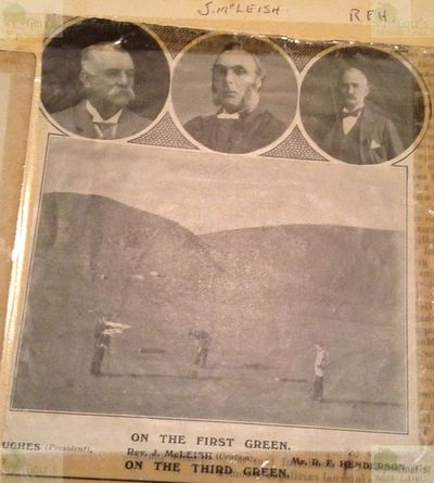 Wooler Golf Club, Northumberland. Mr Hughes, James McLeish and R F Hnderson.