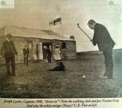 Athlone Golf Club, County Roscommon. Picture of Joseph Lyster club captain in 1908.