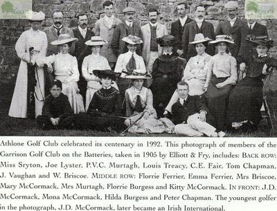 Athlone Golf Club, County Roscommon. Picture of members taken in 1905.