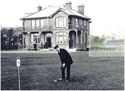 Bangor Golf Club, County Down - The clubhouse.