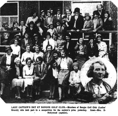 Bangor Golf Club, County Down. Lady Captain's Prize Day June 1931.