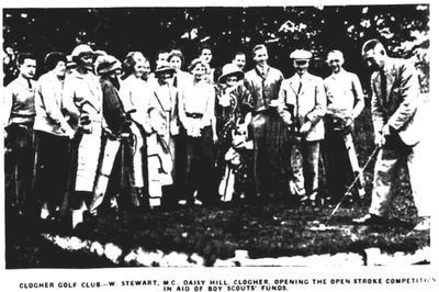 Clogher Golf Club, County Tyrone. Competition in aid of Boy Scout funds July 1935.
