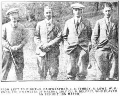 Fivemiletown Golf Club, County Tyrone. Pictures of the opening of the golf course in April 1924