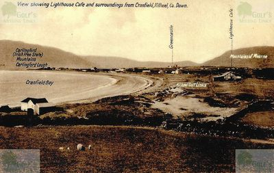 Kilkeel Golf Club, Cranfield, Co. Down. Postcard showing the Kilkeel Golf Links.