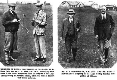Lisburn Golf Club, County Antrim. Competition played on the Lisburn course May 1932.