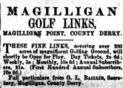 Magilligan Golf Club, County Londonderry. The proposed golf club and course.