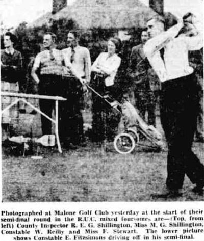 Malone Golf Club, Belfast. The R.U.C mixed foursomes at Malone in September 1954.