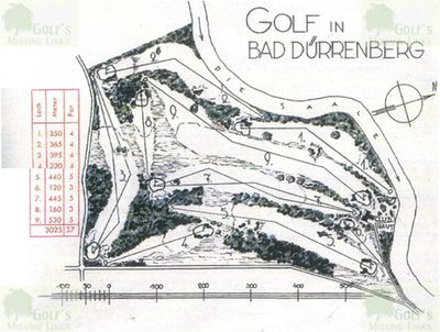 Bad Dürrenberg Golf Club. Course layout.