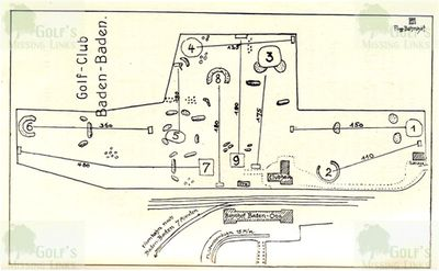 Baden-Baden Oos Golf Club. Layout of the course in 1926.