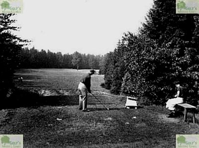 Bad Salzbrunn Golfplatz. Then and now pictures of the sixteenth hole.