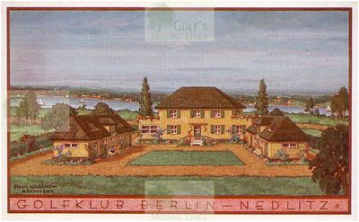 Berliner Golf Club, Nedlitz near Potsdam. The Berliner Golf Club Clubhouse.