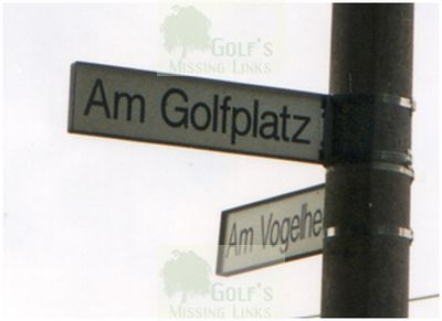Berliner Golf Club, Nedlitz near Potsdam. Golf Signpost.