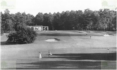 Berlin-Kladow Private Golf Course. View of the golf course in the late 1940s.