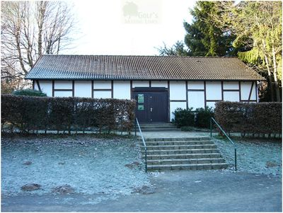 British Army Golf Course Bielefeld, West Germany. The former clubhouse in 2004.