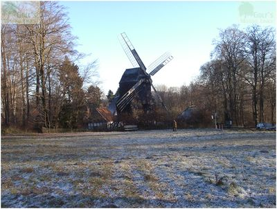 British Army Golf Course Bielefeld, West Germany. The windmill and former green in 2004.