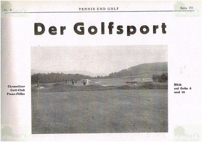 Chemnitzer Golf Club, Plaue-Flöeha. View of the golf course late 1920s.