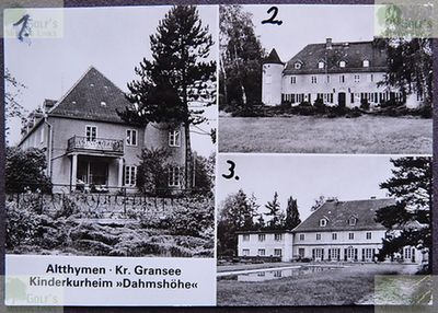 Dahmshöhe Private Golf Course. Mansion when being used as a childrens sanitorium.