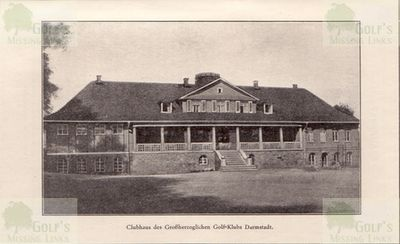Großherzoglicher Golf Club, Darmstadt. The clubhouse.
