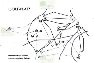 Dresden Golf Club, Bad Weißer Hirsch. Course layout.