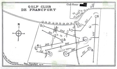 Frankfurter Golf Club, Hof Goldstein. Layout of the redesigned course in 1927.