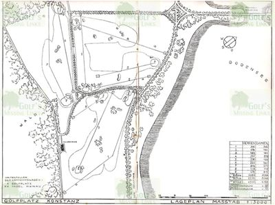 Konstanzer Golf Club, Insel-Mainau. Layout of the nine-hole course.