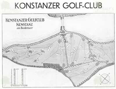 Konstanzer Golf Club. Layout of the proposed 18-hole course.