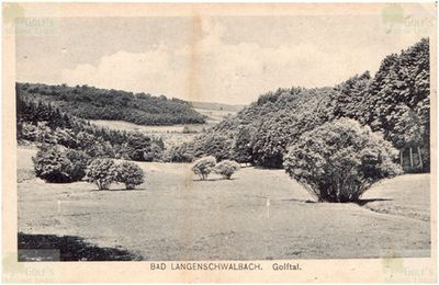 Langenschwalbach im Taunus Golf Club. Early View of the course.