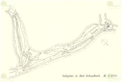 Langenschwalbach im Taunus Golf Club. Course layout in the mid 1930s.