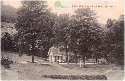 Langenschwalbach im Taunus Golf Club. Early View of the clubhouse and course