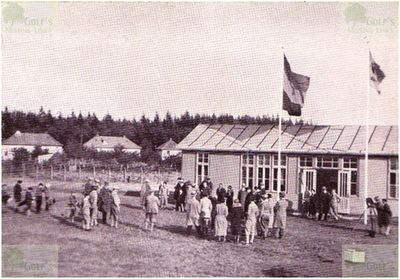 Rostock Golf Club, Neue Rennbahn. The clubhouse in 1932.