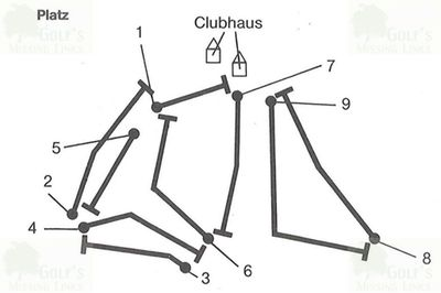 Wilhelmshaven Golf Club. Nine-hole course plan.