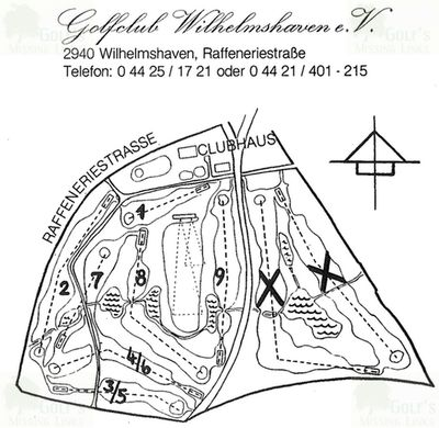 "Wilhelmshaven Golf Club. Amended ""nine-hole"" course."