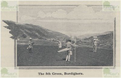 Bordighera Golf Club. The fifth green in 1932.