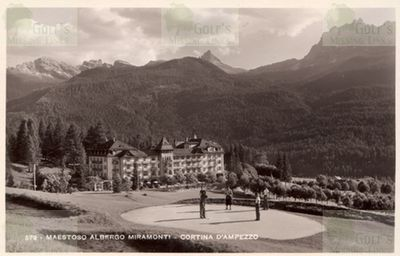 Cortina d'Ampezzo Golf Club. The golf course in the 1930s.