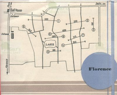 Florence Golf Club. Course layout.