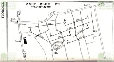 Florence Golf Club. Golf Plumon revised course layout 1930.