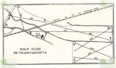 Franciacorta Golf Club at Borgonato-Adro. Layout of the course in 1931.