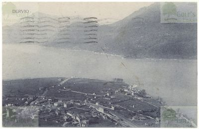 Lake Como Golf Club, Dervio. View of Dervio in 1915.