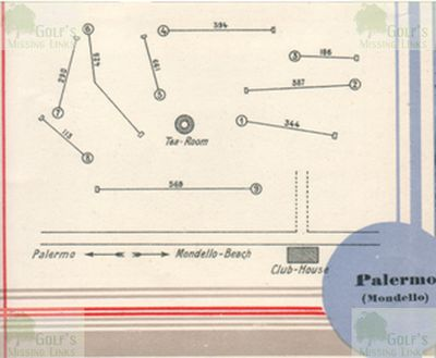 Mondello Golf Club, Palermo, Sicily. Plan of the course.